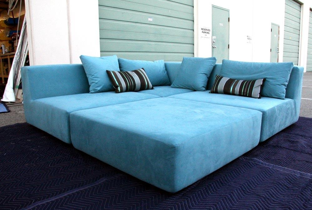 Sofas: Blue Sofas: Unique And Enlightening Furniture, Bigger Room With Blue Sofas (Image 19 of 20)