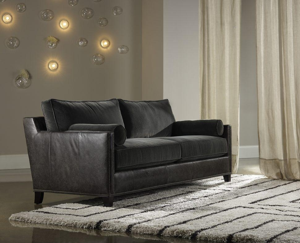 Sofas Center : Charcoal Grey Leather Sofacharcoal Fauxtampede Sofa Inside Charcoal Grey Leather Sofas (View 10 of 20)