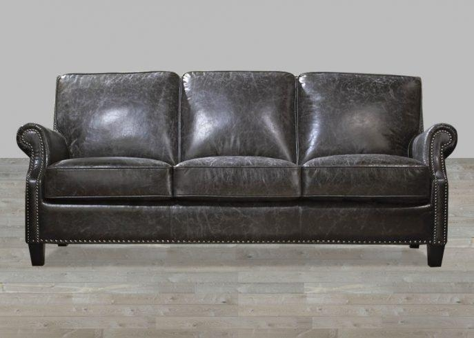 Sofas Center : Charcoal Leather Sofa Grey Sectional Sofacharcoal Within Charcoal Grey Leather Sofas (Image 18 of 20)