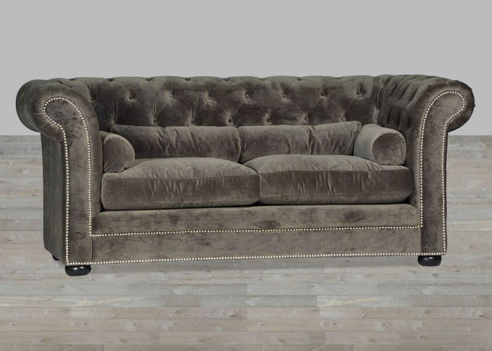 Sofas Center : Grey Velvet Sofa Chesterfield Style Silver Button Throughout Silver Tufted Sofas (View 15 of 20)