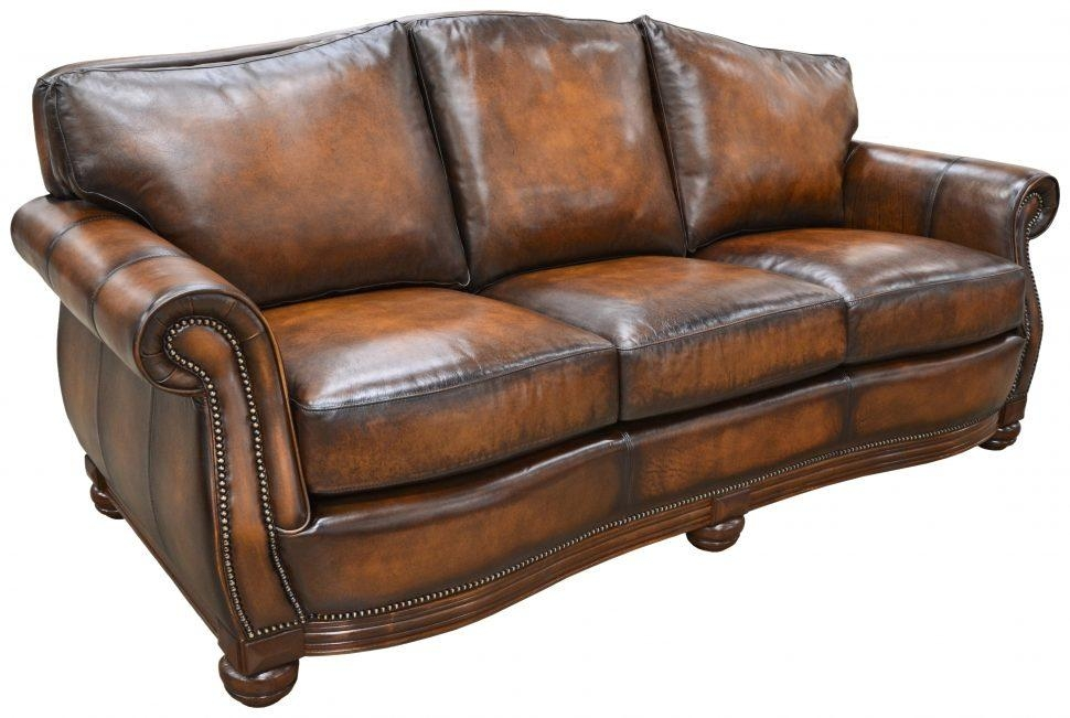 Sofas Center : Homesullivan Kelvington Chocolate Bonded Leather For Camelback Leather Sofas (Image 17 of 20)