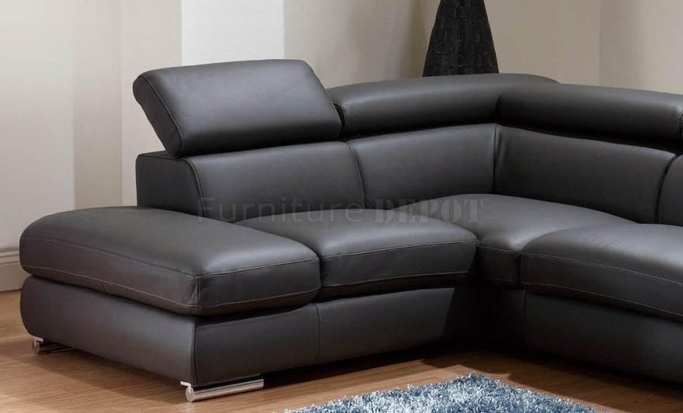 Sofas Center : Marvelous Charcoal Leather Sofa Photos Design Intended For Charcoal Grey Leather Sofas (View 6 of 20)