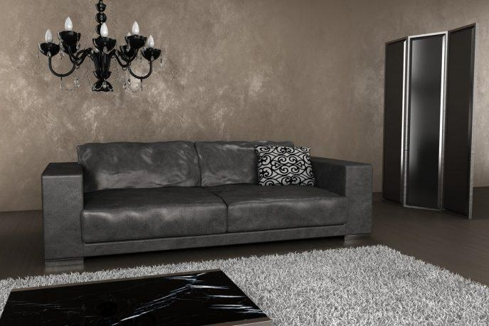 Sofas Center : Marvelous Grey Leather Sofa Image Ideaseper Dark Pertaining To Charcoal Grey Leather Sofas (View 19 of 20)