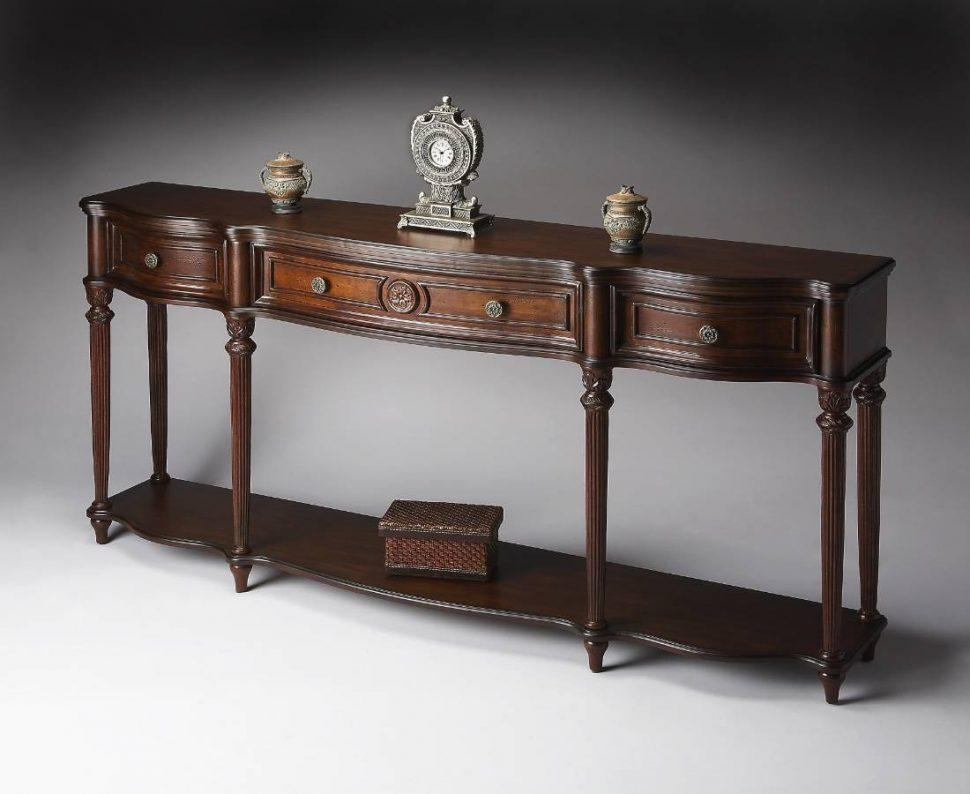 Sofas Center : Round Cherry Wood Sofa Table End Tables And Dark With Regard To Cherry Wood Sofa Tables (Image 17 of 20)