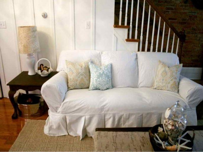 Sofas Center : Sofa Slipcover Etsy Shabby Chic Slipcovers Donna With Shabby Chic Slipcovers (Image 18 of 20)