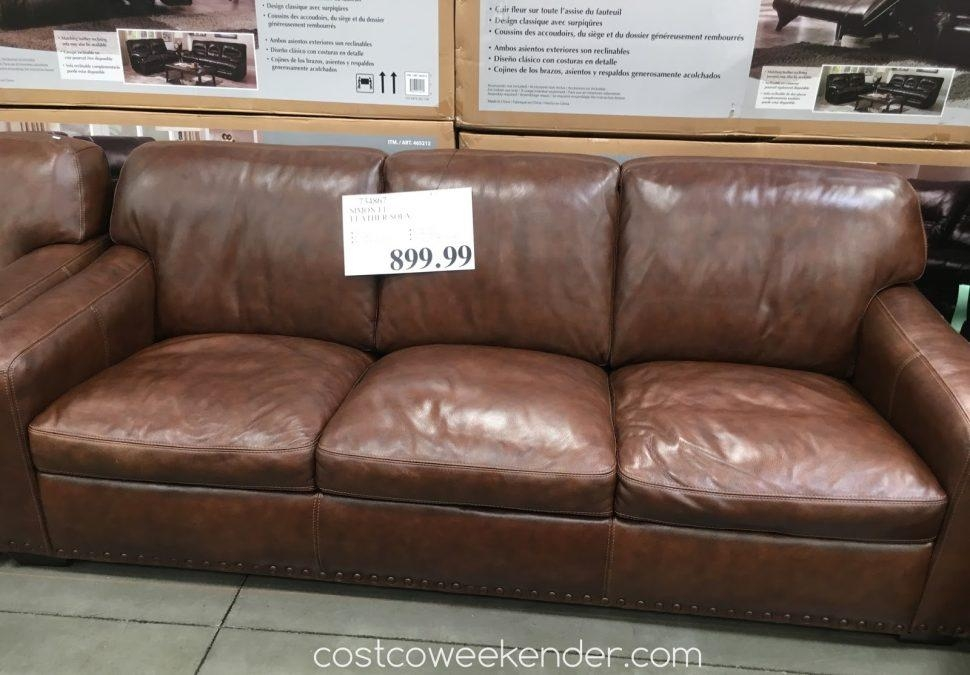 Sofas Center : Stunning Costco Leather Sofa Image Concept Within Simon Li Loveseats (Image 18 of 20)