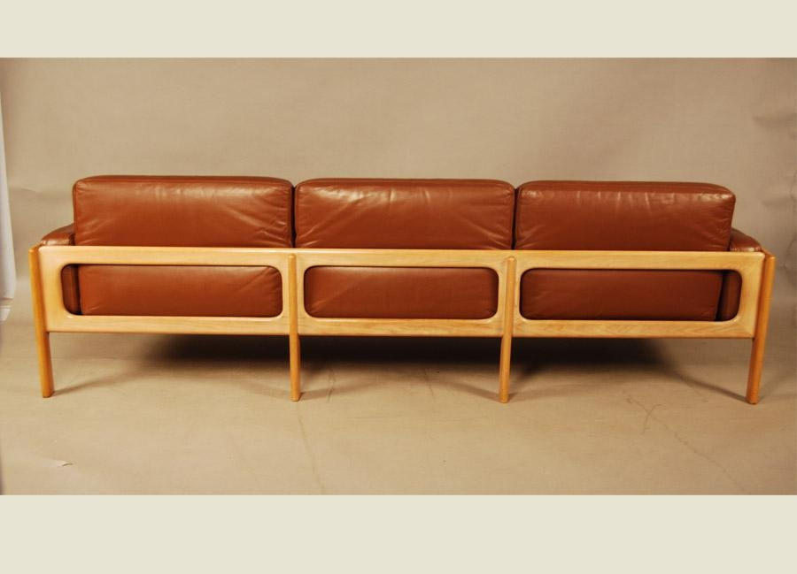 Sold – Danish Leather Sofa 27D142 – Danish Vintage Modern Inside Danish Leather Sofas (View 5 of 20)