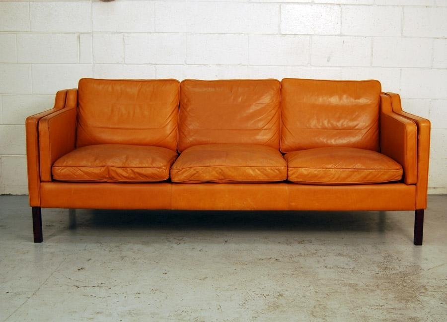 "Sold – Danish Leather ""stouby' Sofa And Chair 30D006 – Danish Inside Danish Leather Sofas (Image 18 of 20)"