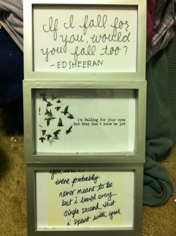 Song Lyrics | Ed Sheeran Song Lyrics Framed Wall Art | Ed Sheeran With Regard To Music Lyrics Wall Art (Image 20 of 20)