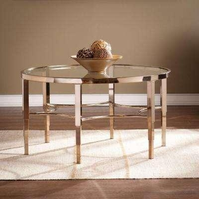 Southern Enterprises – Gold Metallic – Accent Tables – Living Room With Regard To Gold Sofa Tables (View 17 of 20)