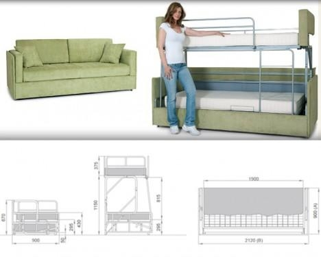 Space Saving Sleepers: Sofas Convert To Bunk Beds In Seconds Pertaining To Sofas Converts To Bunk Bed (Image 17 of 20)