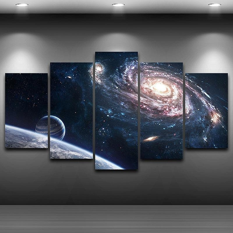 Space Wall Art Promotion Shop For Promotional Space Wall Art On Regarding Outer Space Wall Art (Image 20 of 20)