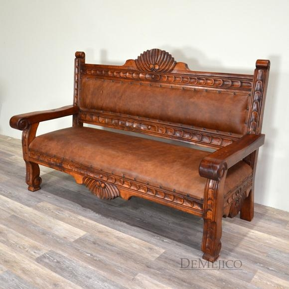 Spanish Benches, Custom Made Sofas, Rustic Wood Benches  Demejico Pertaining To Colonial Sofas (Image 19 of 20)