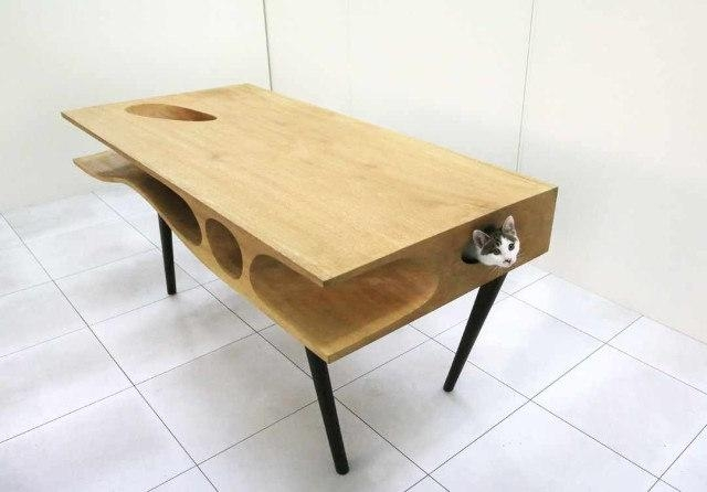 Spoiled: Couch With Integrated Habitrail For Your Cats – Geekologie Throughout Cat Tunnel Couches (Image 18 of 20)