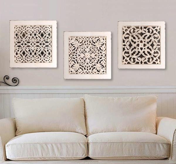 Square Wall Art Antique White | Dandy Decor | Pinterest | Squares With Regard To White Wooden Wall Art (View 13 of 20)