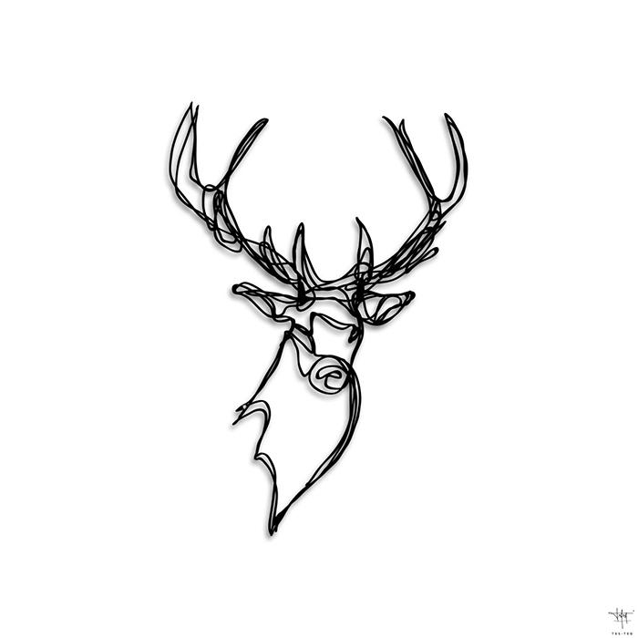 Stag Head Trophy Design Wall Sign / Tes Ted X Hu2 Design Regarding Stags Head Wall Art (Image 15 of 20)