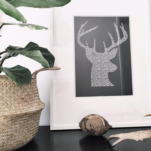 Stag Head Wall Art Print | Yorkelee Wall Art Prints | Home Decor With Regard To Stags Head Wall Art (Image 16 of 20)