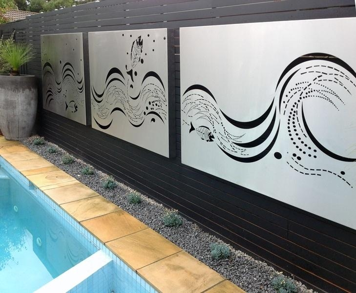 Featured Image of Stainless Steel Outdoor Wall Art