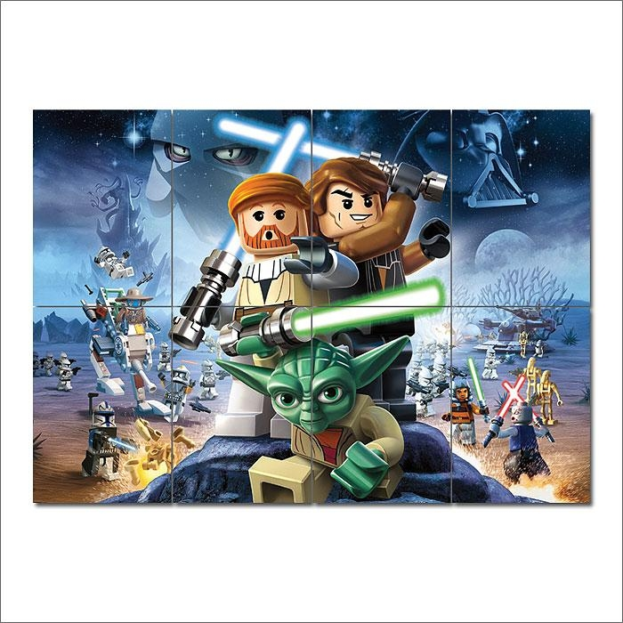 Star Wars Block Giant Wall Art Poster Throughout Lego Star Wars Wall Art (Image 16 of 20)