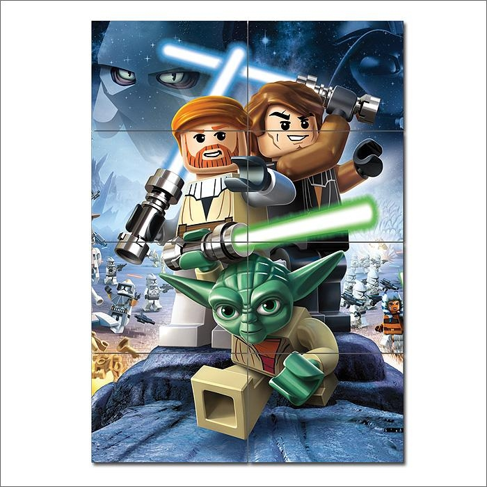 Star Wars Iii The Clone Wars Game Giant Wall Art Poster Inside Lego Star Wars Wall Art (Image 17 of 20)