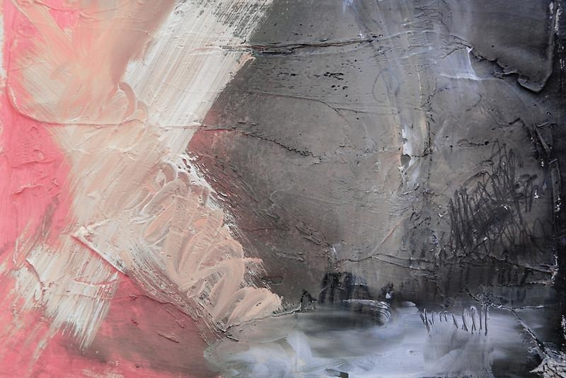 Starting Point,pink Blue Abstract Giclee,pink Grey Giclee Print With Regard To Pink And Grey Wall Art (Image 19 of 20)