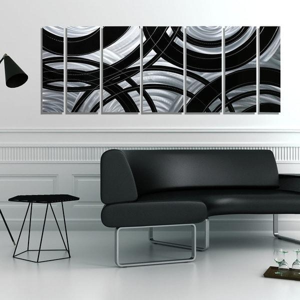 Statements2000 Black / Silver Contemporary Metal Wall Art Painting For Black Silver Wall Art (Image 17 of 20)