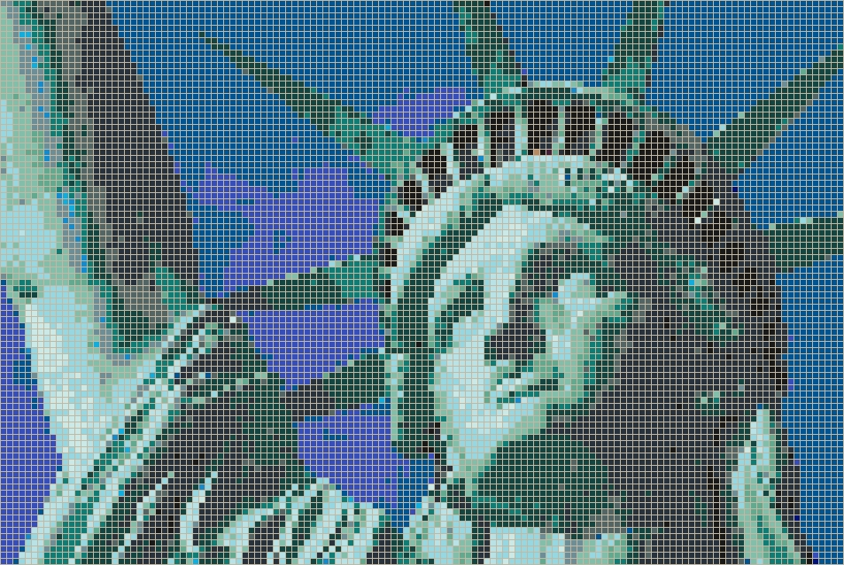 Statue Of Liberty (Face) – Framed Mosaic Wall Art Within Pixel Mosaic Wall Art (Image 17 of 20)