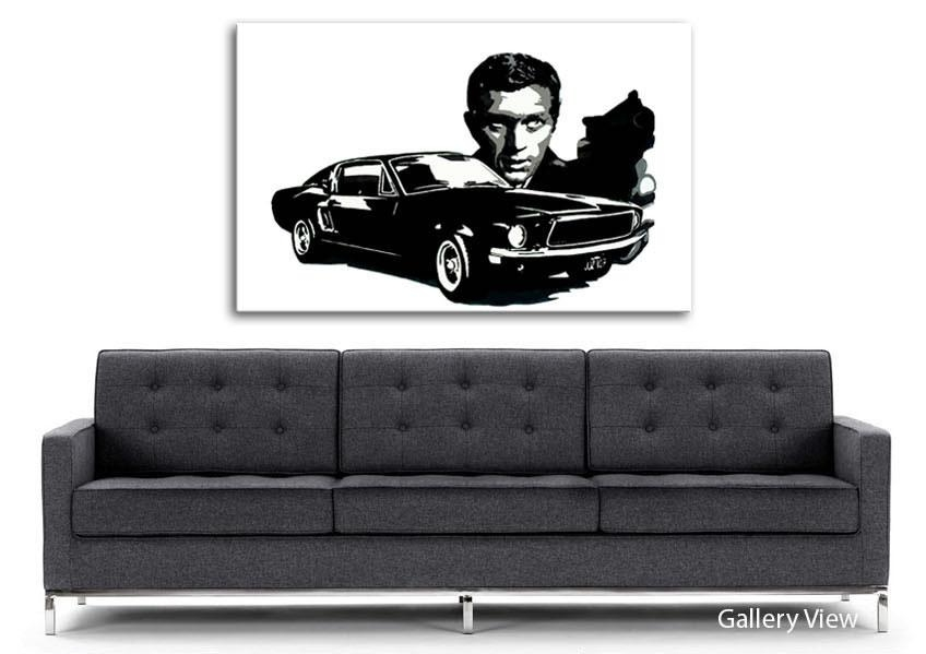 Steve Mcqueen Bullitt People Canvas Stretched Canvas Intended For Steve Mcqueen Wall Art (View 13 of 20)