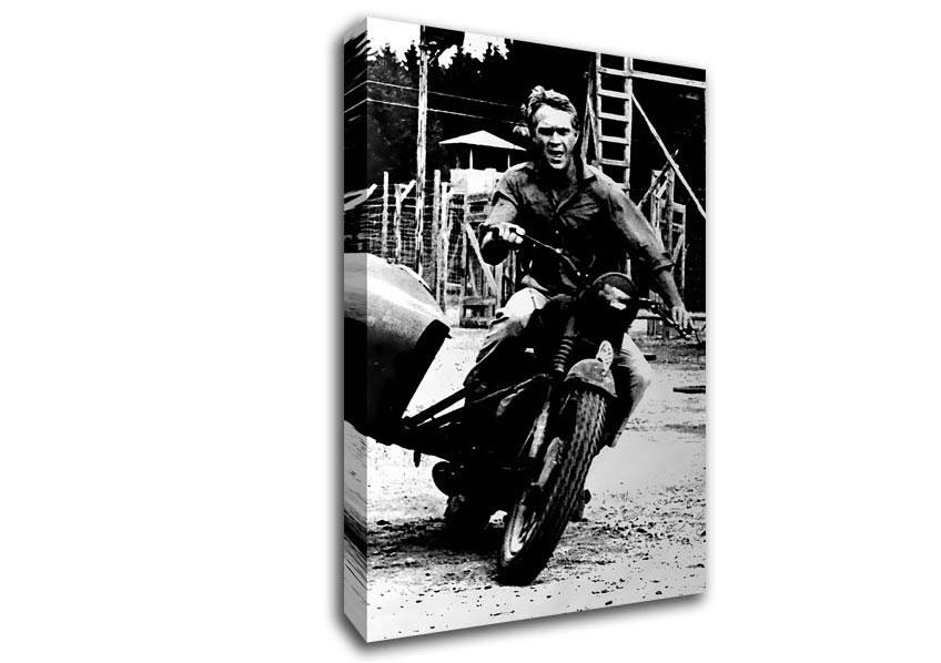 Steve Mcqueen Motorbike People Canvas Stretched Canvas In Steve Mcqueen Wall Art (View 15 of 20)