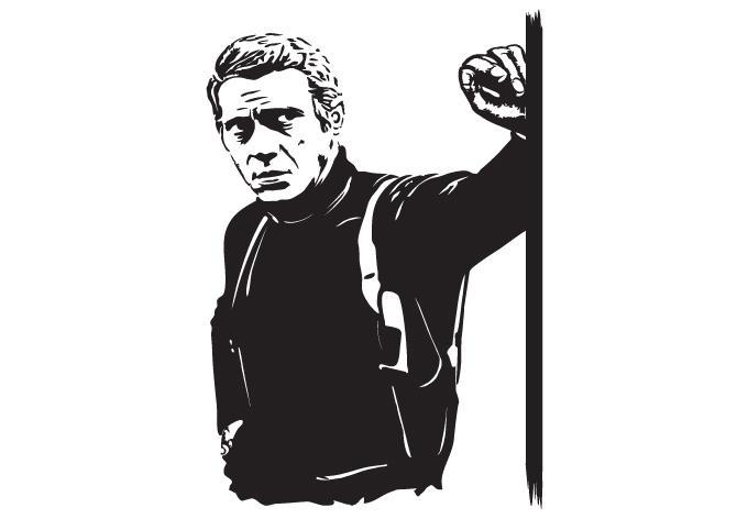 Steve Mcqueen Wall Sticker – Wall Art For Steve Mcqueen Wall Art (View 10 of 20)