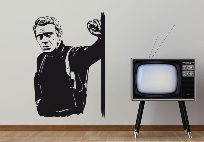 Steve Mcqueen Wall Sticker – Wall Art Regarding Steve Mcqueen Wall Art (View 4 of 20)