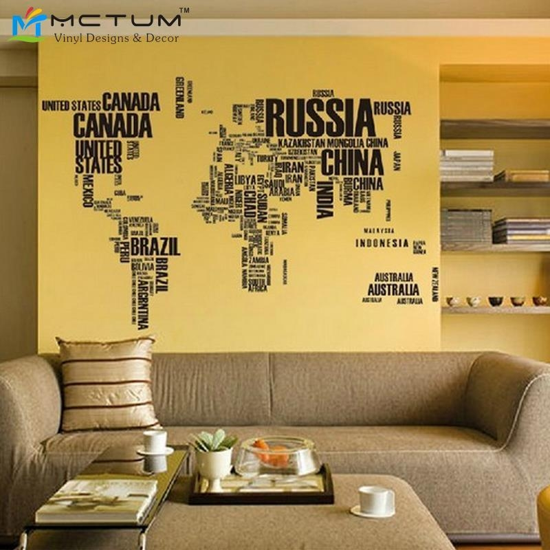 Sticker Decor Picture – More Detailed Picture About New 2014Global Inside Atlas Wall Art (View 8 of 20)