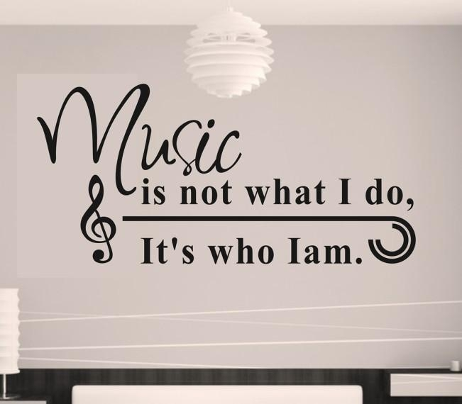 Sticker Home Decor Picture – More Detailed Picture About Music Pertaining To Music Note Wall Art (View 16 of 20)