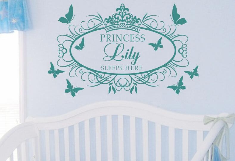 Sticker Picture – More Detailed Picture About Custom Personalised Throughout Princess Crown Wall Art (Image 19 of 20)