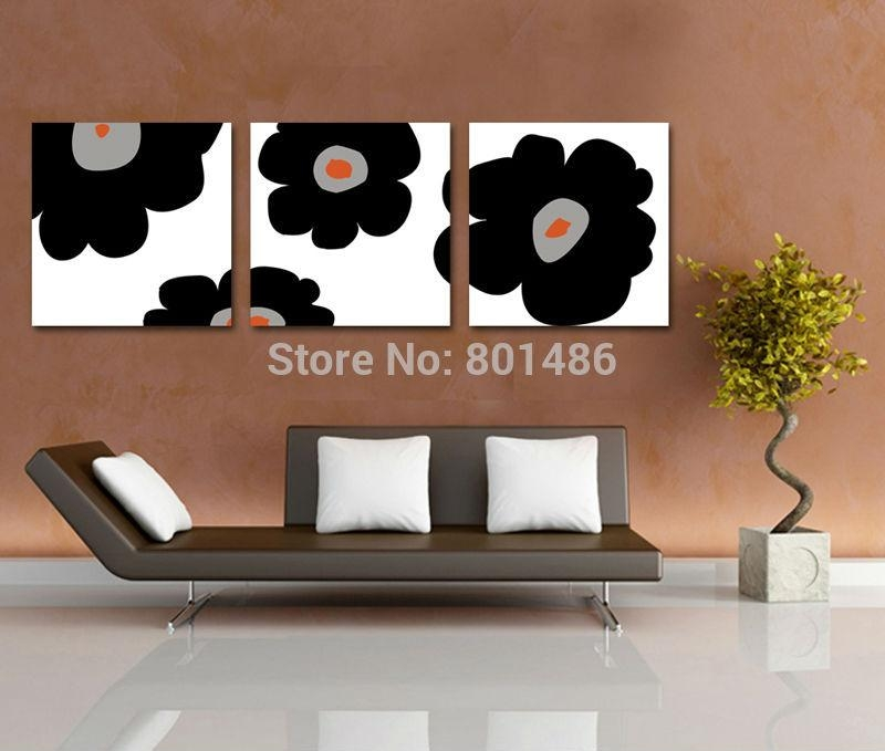 Stillness Floral Canvas Wall Art Promotion Shop For Promotional In 3 Piece Floral Canvas Wall Art (View 13 of 20)