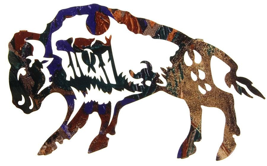 Story Buffalo Best Sellerlazart – Sanger Metal Art And Gifts Pertaining To Lazart Metal Wall Art (View 12 of 20)