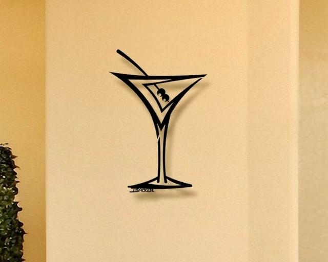 Straight Martini – 3D Metal Wall Art – Home Decor – Contemporary Inside Martini Metal Wall Art (Image 12 of 20)