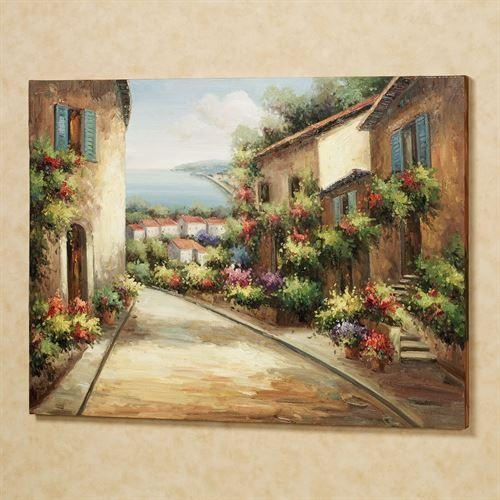 Streets Of Tuscany Canvas Wall Art Inside Tuscany Wall Art (Image 9 of 20)