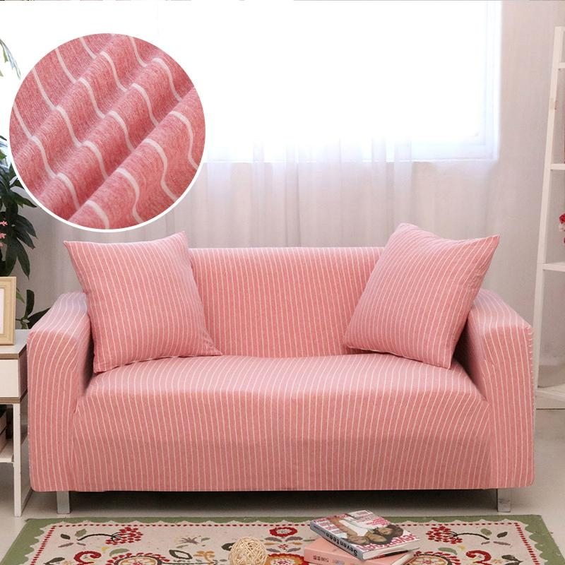 Striped Sofa Slipcovers Promotion Shop For Promotional Striped With Striped Sofa Slipcovers (Photo 16 of 20)