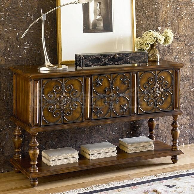 Stunning Accent Console Table Hidden Treasures Console Table W Regarding Sofa Tables With Storages (View 8 of 20)