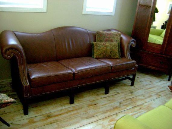 Stunning Camelback Leather Sofa – Interiorvues Within Camelback Leather Sofas (Image 18 of 20)