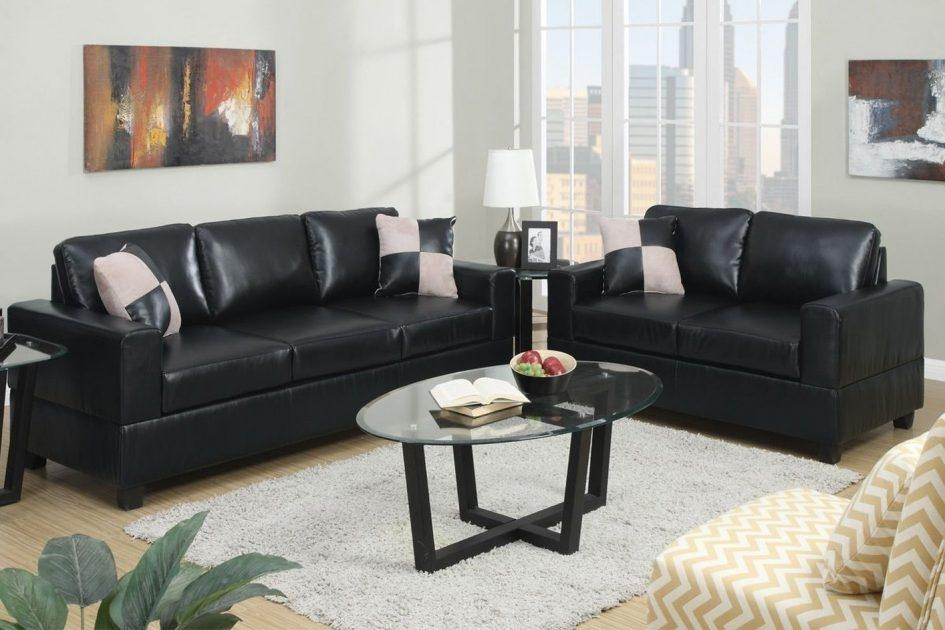 Stunning Leather Sofa Loveseat – Interiorvues Within Black Leather Sofas And Loveseat Sets (Image 17 of 20)