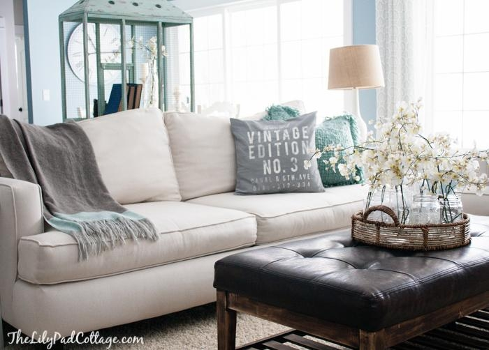 Style A White Sofa – How To Decorate A White Couch With Blue And White Sofas (View 18 of 20)