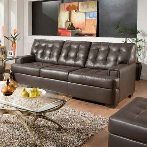 Stylish Black Leather Sofa Set With Modern Black Leather Sofa Set Intended For Simmons Bonded Leather Sofas (Image 20 of 20)