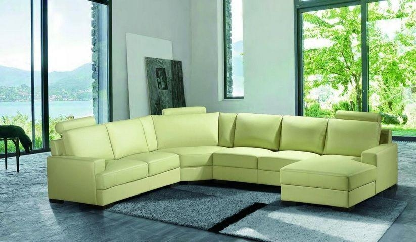 Stylish Green Leather Sectional Sofa Green Leather Sofa Nobis With Regard To Green Leather Sectional Sofas (Image 20 of 20)