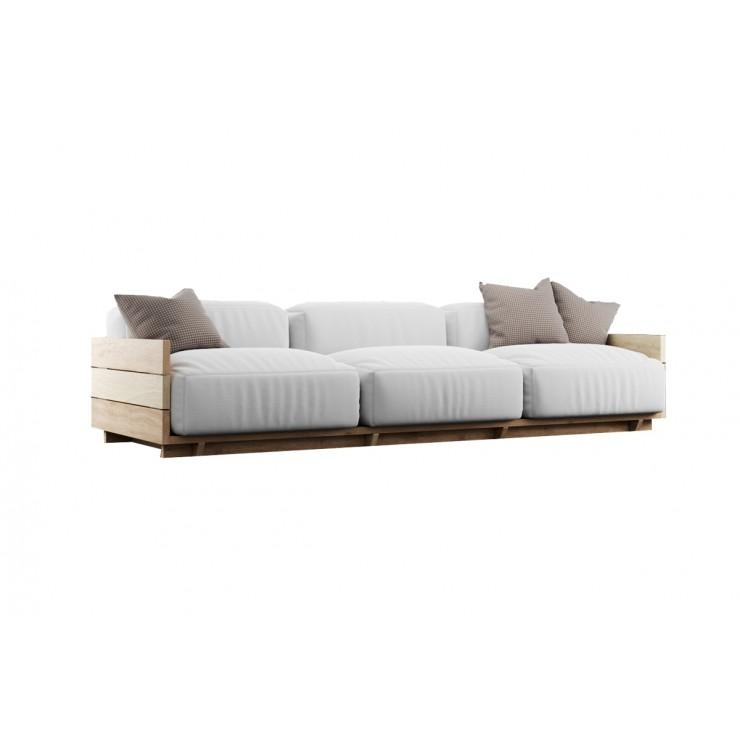 Subtle Low Height 3 Seater Sofa In Fabric Finish – Buy Subtle Low For Low Height Sofas (Image 17 of 20)