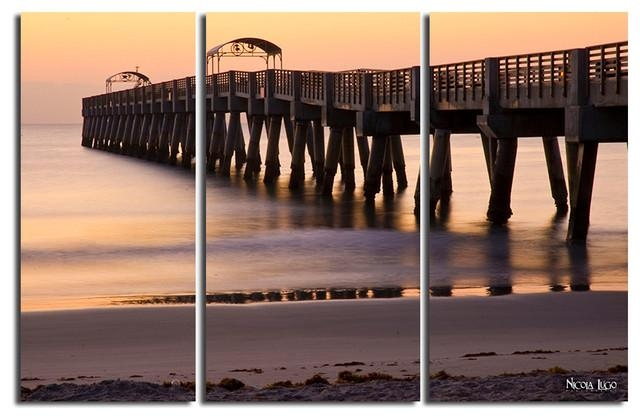 "Sun Pier"" 3 Piece Canvas Wall Art Setnicola Lugo, 20""x48 In 3 Piece Canvas Wall Art Sets (Image 14 of 20)"