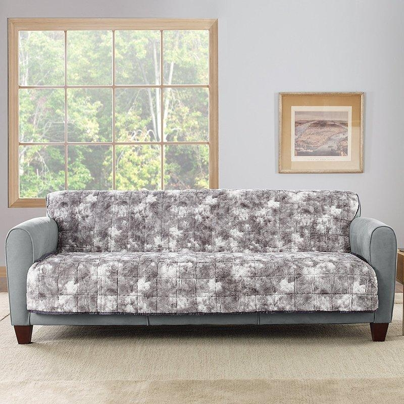 Sure Fit Box Cushion Sofa Slipcover & Reviews | Wayfair With Regard To Armless Sofa Slipcovers (View 15 of 20)
