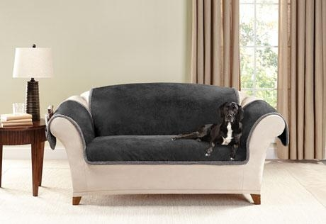 Sure Fit – Category In Black Sofa Slipcovers (View 8 of 20)