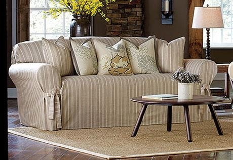 Sure Fit – Category In Striped Sofa Slipcovers (View 14 of 20)